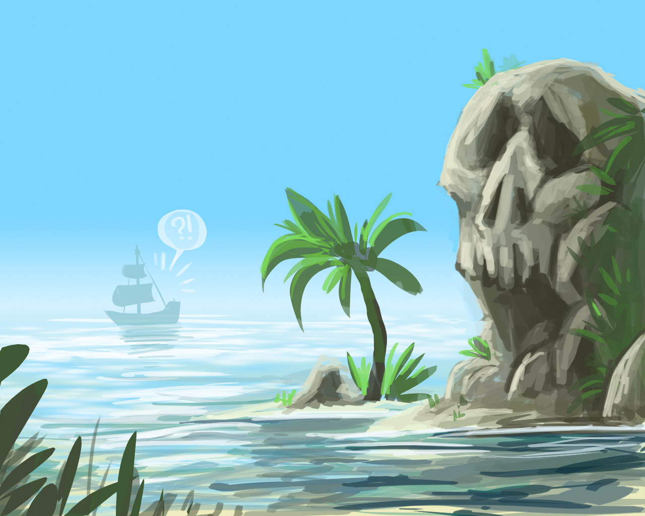 89_ruben-koops-Beach---Tropical---Skull